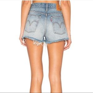 New Levi's Wedgie Fit High Rise Jean Shorts